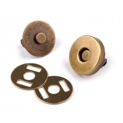 Lot de 2 fermoirs magnétiques 19 mm - Bronze