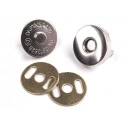 Lot de 2 fermoires magnétiques - Argent - 18 mm
