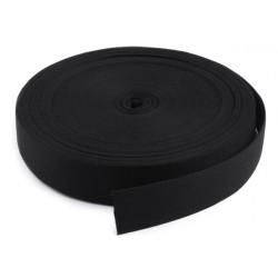 Sangle de coton - Coloris noir - 3 cm de largeur - 1 m