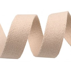 Sangle de coton - coloris crème - 3 cm de large - 1m