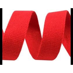 Sangle de coton - coloris rouge - 3 cm de large - 1m